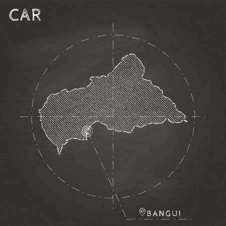CAR chalk map illustratioin