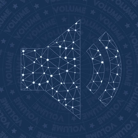 Volume network symbol. Appealing constellation style symbol. Marvelous network style. Illustration