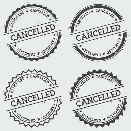 Cancelled insignia stamp isolated on white background. Illustration