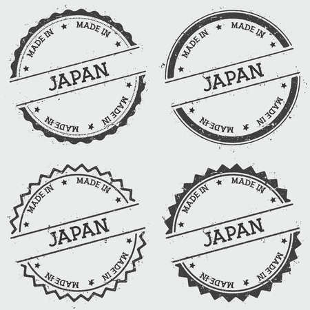 Made in Japan insignia stamp isolated on white background.