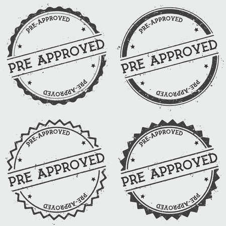 Pre-Approved insignia stamp isolated on white background.