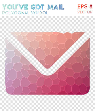 You've got polygonal symbol. Astonishing mosaic style symbol. Immaculate low poly style. Modern design. You've got icon for infographics or presentation.
