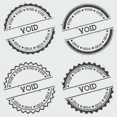 Timbre d'insigne vide isolé sur fond blanc. Sceau de hipster rond grunge avec texte, texture d'encre et éclaboussures et taches, illustration vectorielle.