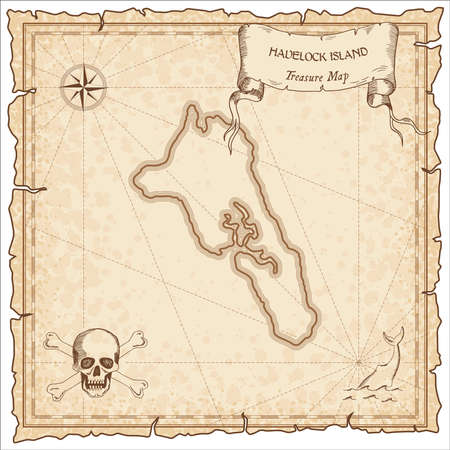 Havelock Island old pirate map.