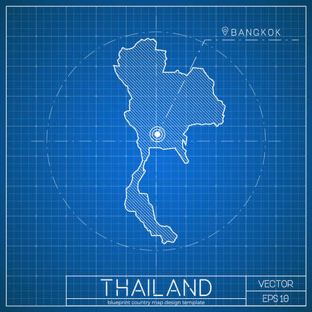 1126 kingdom of thailand cliparts stock vector and royalty free thailand blueprint map template with capital city bangkok marked on blueprint thai map vector malvernweather Image collections