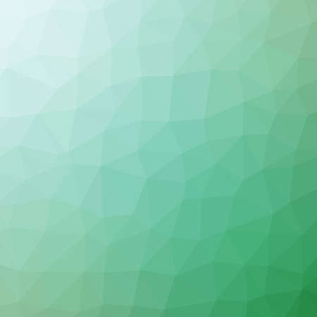 Low poly pattern design. Large cells. Vector polygonal background filled with blue to green gradient. Geometric style poster backdrop.