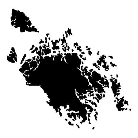 Cat Ba Island map. Island silhouette icon. Isolated Cat Ba Island black map outline. Vector illustration.