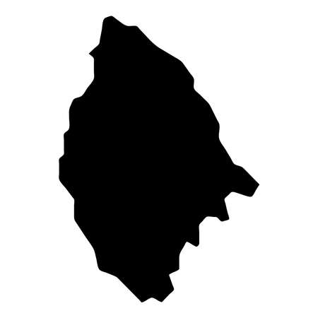 La Digue map. Island silhouette icon. Isolated La Digue black map outline. Vector illustration. 向量圖像