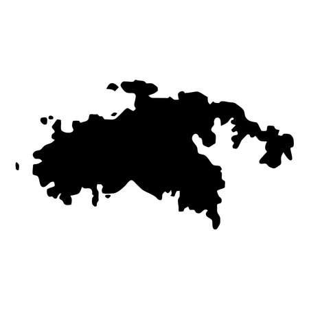 Saint John kaart. Eiland silhouet pictogram. Geïsoleerde Saint John zwarte kaartoverzicht. Vector illustratie.