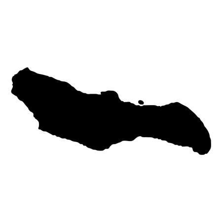 Saona Island map. Island silhouette icon. Isolated Saona Island black map outline. Vector illustration.