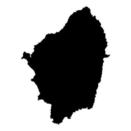 Naxos map. Island silhouette icon. Isolated Naxos black map outline. Vector illustration. Illustration