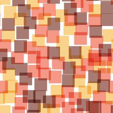 Abstract squares pattern. White geometric background. Bewitching random squares. Geometric chaotic decor. Vector illustration.