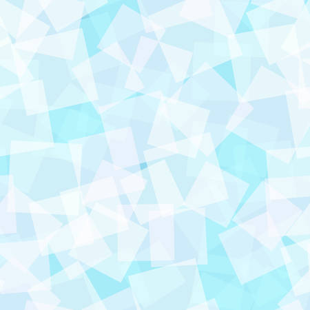 Abstract squares pattern. Light blue geometric background. Enchanting random squares. Geometric chaotic decor.
