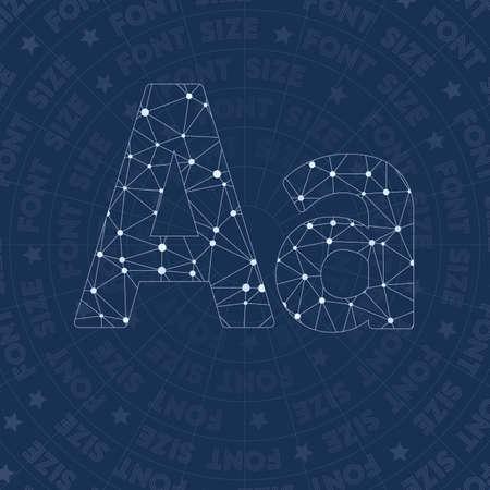 Letter A constellation style symbol Illustration
