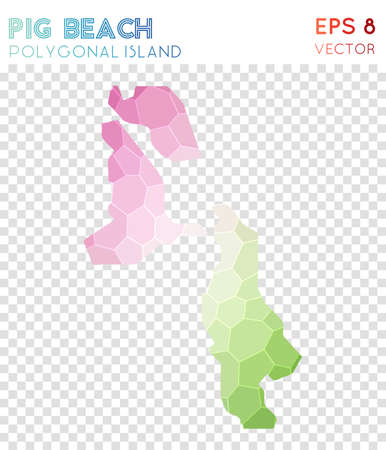 Pig Beach polygonal map design