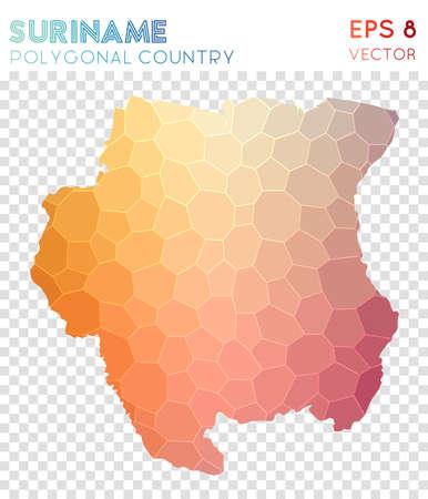 Suriname polygonal map