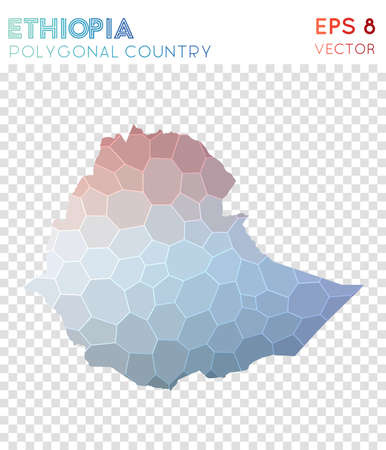 Ethiopia polygonal map
