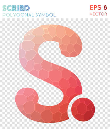 Scribd polygonal symbol. Awesome mosaic style symbol. Tempting low poly style. Modern design. Scribd icon for infographics or presentation.