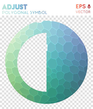 Adjust polygonal symbol. Actual mosaic style symbol. Beauteous low poly style. Modern design. Adjust icon for infographics or presentation. Illustration