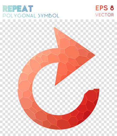 Cw polygonal symbol. Alive mosaic style symbol. Quaint low poly style. Modern design. Cw icon for infographics or presentation.