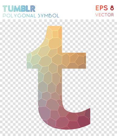 Tumbler polygonal symbol. Bewitching mosaic style symbol. Dramatic low poly style. Modern design. Tumbler icon for infographics or presentation.