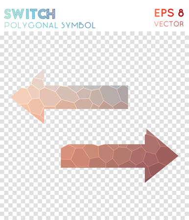 Switch polygonal symbol. Beautiful mosaic style symbol. Ecstatic low poly style. Modern design. Switch icon for infographics or presentation.