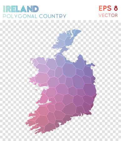 Ireland polygonal map Illustration