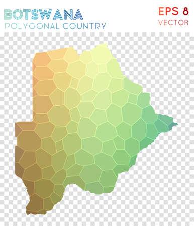 Botswana polygonal map