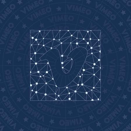 Network symbol. Appealing constellation style symbol. Impressive network style. Modern design symbol for info graphics or presentation.