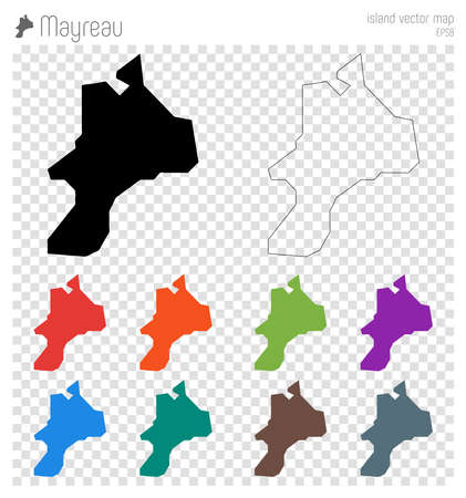 Mayreau high detailed map. Island silhouette icon. Isolated Mayreau black map outline. Vector illustration.