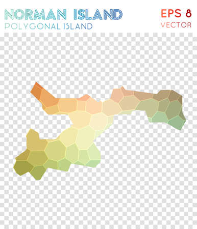 Norman Island polygonal map, mosaic style island. Energetic low poly style, modern design. Norman Island polygonal map for infographics or presentation.