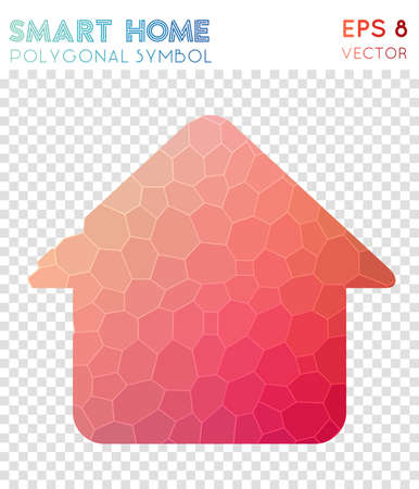 Smart polygonal symbol. Appealing mosaic style symbol. Indelible low poly style. Modern design. Smart icon for infographics or presentation.