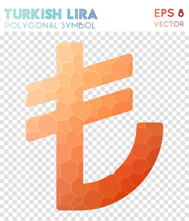 Turkish polygonal symbol. Bewitching mosaic style symbol. Decent low poly style. Modern design. Turkish icon for infographics or presentation.