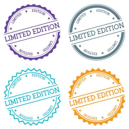 Limited Edition badge isolated on white background. Flat style round label with text. Circular emblem vector illustration. Vektoros illusztráció