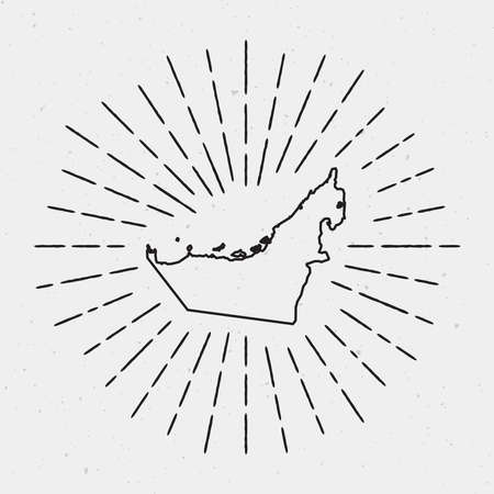 335 united arab emirates vector map cliparts stock vector and United Arab Emirates Location Map vector united arab emirates map outline with retro sunburst border hand drawn hipster decoration element
