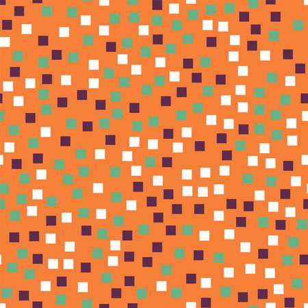 Abstract squares pattern. Orange geometric background. Shapely random squares. Geometric chaotic decor. Vector illustration. Illusztráció