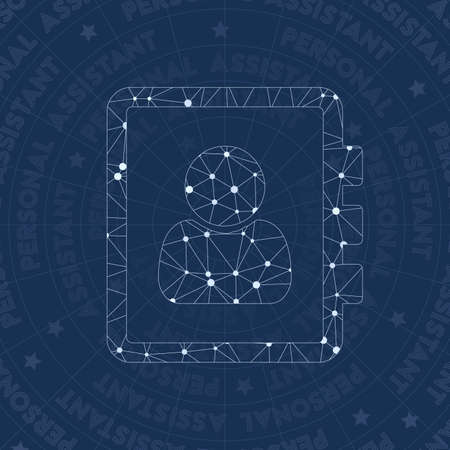 Personal network symbol. Actual constellation style symbol. Amazing network style. Modern design. Personal symbol for infographics or presentation.