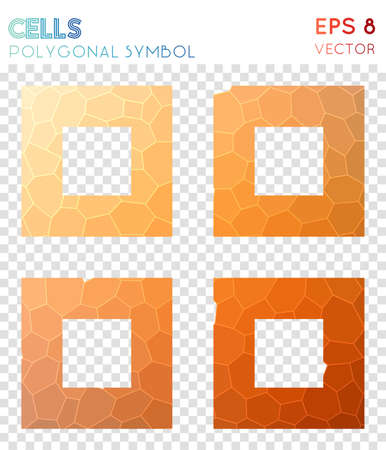 Th large polygonal symbol. Beautiful mosaic style symbol. Mind-blowing low poly style. Modern design. Th large icon for infographics or presentation.