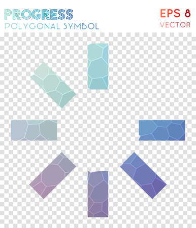 Progress 0 polygonal symbol. Authentic mosaic style symbol. Outstanding low poly style. Modern design. Progress 0 icon for infographics or presentation. Иллюстрация