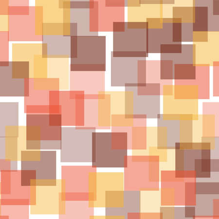 Abstract squares pattern. White geometric background. Captivating random squares. Geometric chaotic decor. Vector illustration.