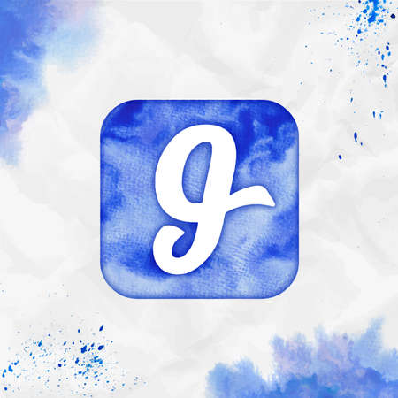 Glide watercolor icon. Amusing hand drawn style symbol. Unusual watercolor symbol. Modern design for infographics or presentation.