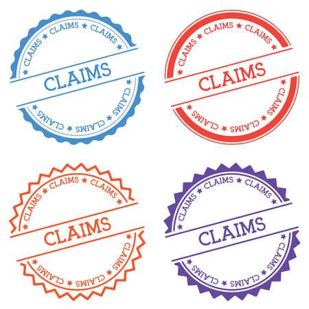 Insigne de réclamations isolé sur fond blanc. Étiquette ronde de style plat avec texte. Illustration vectorielle emblème circulaire.
