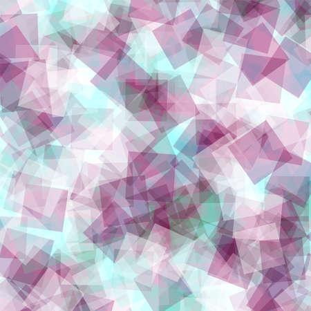 Abstract squares pattern. White geometric background. Appealing random squares. Geometric chaotic decor. Vector illustration. Ilustração
