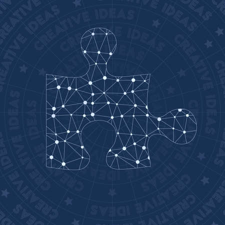 Creative network symbol. Amazing constellation style symbol. Sublime network style. Modern design. Creative symbol for infographics or presentation.