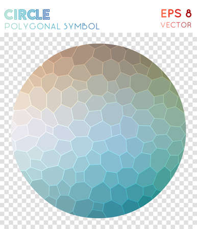 Dot polygonal symbol. Alluring mosaic style symbol. Enchanting low poly style. Modern design. Dot icon for infographics or presentation.