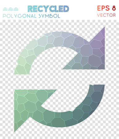 100% polygonal symbol. Actual mosaic style symbol. Gorgeous low poly style. Modern design. 100% icon for infographics or presentation.