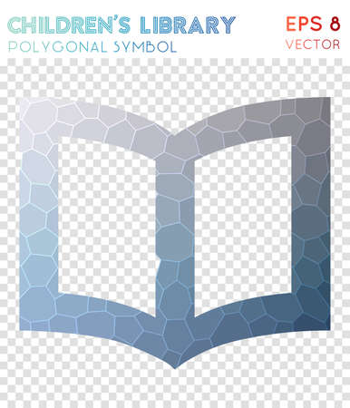 Childrens polygonal symbol. Admirable mosaic style symbol. Good-looking low poly style. Modern design. Childrens icon for infographics or presentation. Illustration