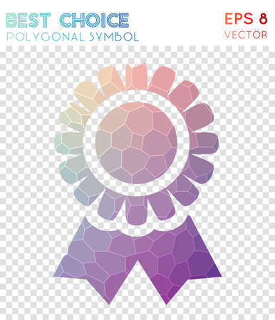 Best polygonal symbol. Actual mosaic style symbol. Quaint low poly style. Modern design. Best icon for infographics or presentation.