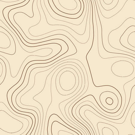 Topographic map background. Admirable topographic map. Seamless design, fascinating tileable isolines pattern. Vector illustration.