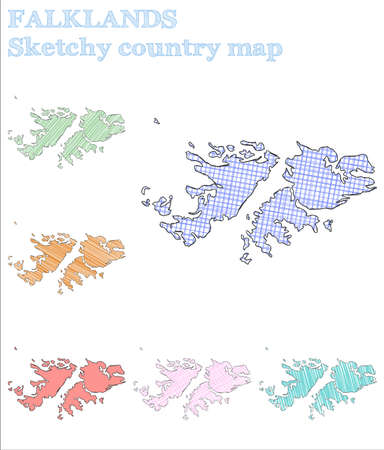 Falklands sketchy country. Favorable hand drawn country. Fetching childish style Falklands vector illustration.